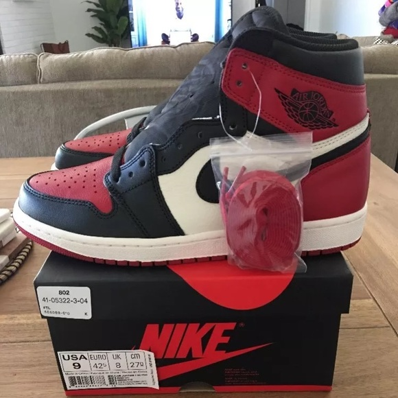 new high usa cheap sale amazing price Air Jordan 1 Bred Toe